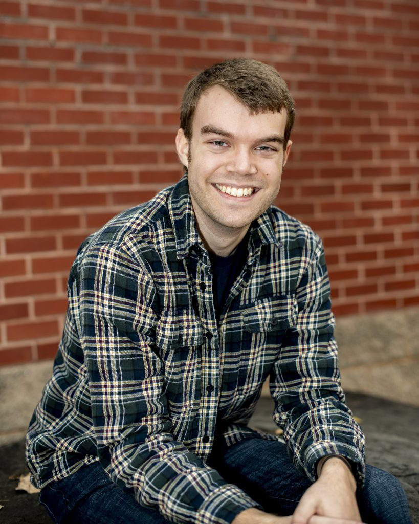 Young man in flannel shirt